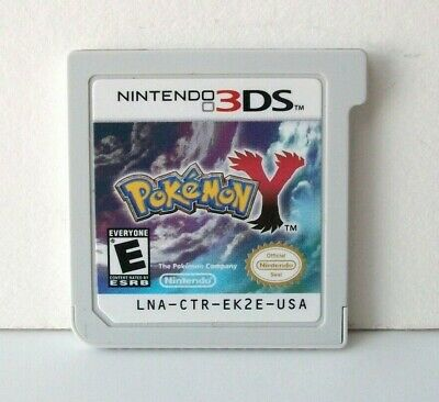 Pokemon Y (Nintendo 3DS) Game Cartridge Only Good Label RPG Yveltal Kids 2013