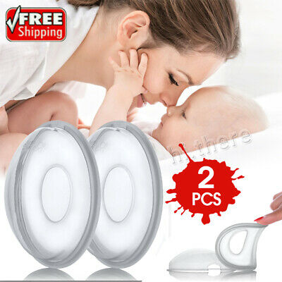 2Pcs Breast Milk Collection Shell Breast Saver for Travel Daily Working Moms NEW