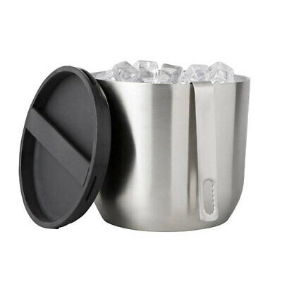 Rabbit Twist To Lock Double Wall Insulated Stainless Steel Ice Bucket w/ Lid SL