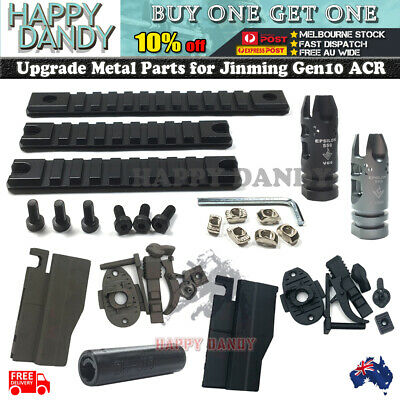 Upgrade J10 ACR HOPUP Metal Rail set Jinming Gen 10 Attachment Parts Gel Blaster