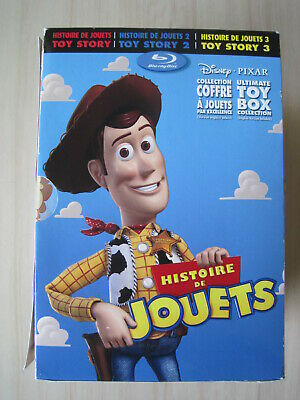 Toy Story Trilogy Ultimate Toy Box Collection Blu-Ray-Dvd,10 Discs