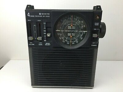 Sanyo - RP 8300 - Portable Shortwave Radio - SW - MW - FM - Good Condition -