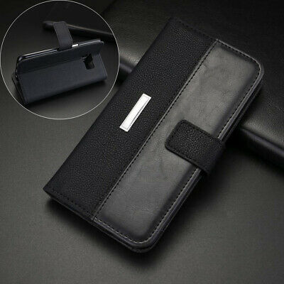Samsung Galaxy S10 S9 S8 Plus S7 Card Slot Wallet Luxury Leather Flip Case Cover