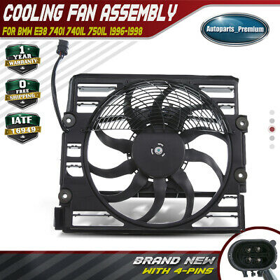 New Fit BMW E38 740 750 Auxiliary Cooling Fan Motor Assembly 64548380774 Top
