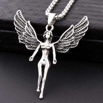 Nude Angel Necklace Charms Jewelry Stainless Steel Pendant Chain Necklace Gift