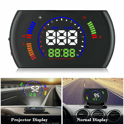 Auto HUD Head Up Display Speed Warning OBD2 OBDII Geschwindigkeit Tachometer Neu