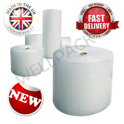 Bubble Wrap Roll 50m x 300mm Small Bubbles Lightweight Bubble Wrap for Packing