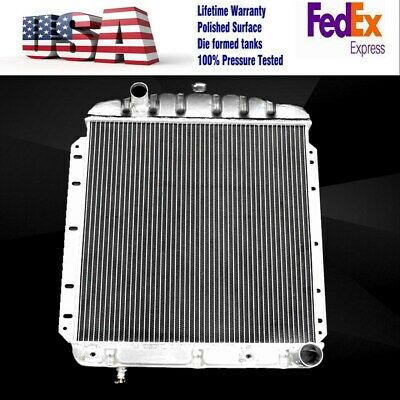 POLISHED STAMPED TANKS ALUMINUM 3 ROWS RADIATOR FIT 54 55 FORD F100 Pickup
