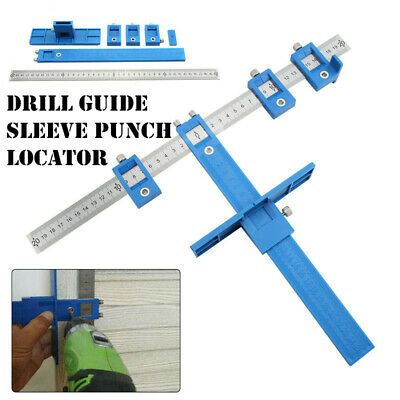 Drill Guide Sleeve Punch Locator Cabinet Hardware Jig Drawer Pull Wood Dowel New