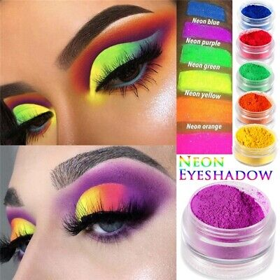 Pro Shimmer Matte NEON Eyeshadow Pigment Powder Eye Shadow Makeup Kit Beauty Set