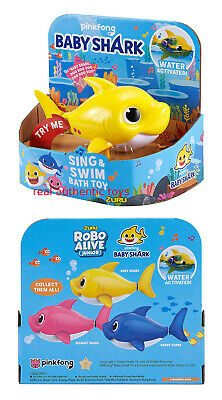Yellow Baby - Robo Alive - Pinkfong Swim & Sing Shark - Made By Zuru - Preorder