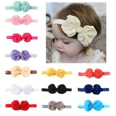 5 pcs Bow-knot Hairband Elastic Child Baby Newborn Girl Photography Head band