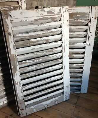 French Shutters ~ Pair of Vintage Chippy Shutters