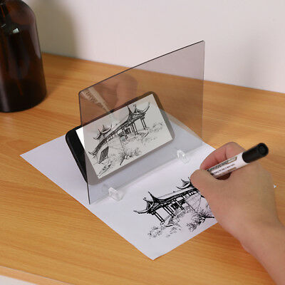 LED Light Stencil Drawing Board Tracing Sketch Mirror Reflectio Phone Dimming TH