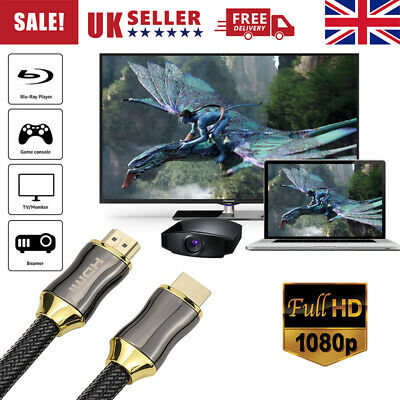 Premium HDMI 4K Cable v2.0 High Speed Video Lead 3D Ultra HD 2160p 1/2/3/5m