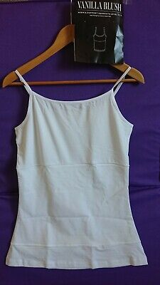 Vanilla Blush Hernia Stoma Support Vest Ladies Size 18 White Brand New  Free P&P