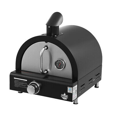 Grillz Portable Pizza Oven BBQ Camping LPG Gas Grill Cook Stove Stainless Steel