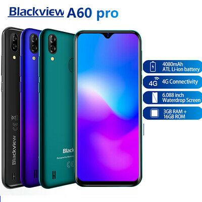 Blackview A60 Pro 4G MTK6761 Quad Core 6.088 inch 3+16GB Touch ID Android 9.0