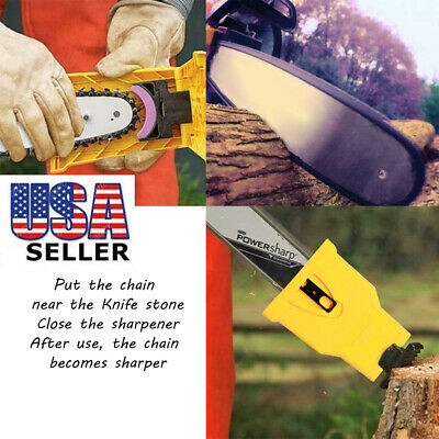 Woodworking Special Chain Saw Sharpener Sharpening Stone Fast Grinding Tool US