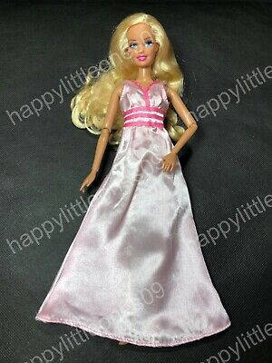 Pink Barbie Doll Wedding Party Evening Princess Dress/Clothes/Outfit/Gown New