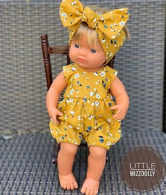 Miniland Doll Clothes Romper & Headband ~3 Colours To Choose From~
