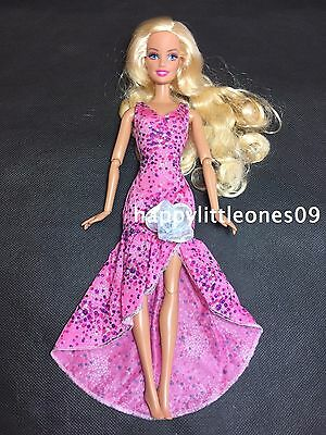 Brand New Pink Barbie Doll Wedding Party Evening Dress/Clothes/Outfit and Shoes