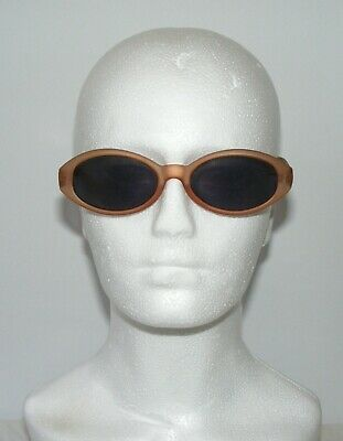 vintage 90s deadstock does 50s retro sunglasses oval clear brown RRP £15