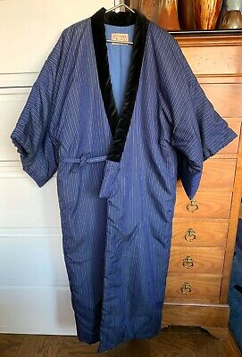 Traditional Handmade Japanese Quilted Kimono, Unisex Full-Length Robe