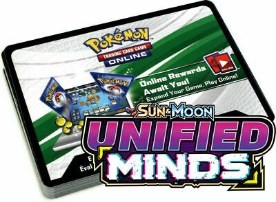 50 x UNIFIED MINDS Booster Code Cards INSTANTLY MESSAGED! - Pokemon TCG Online