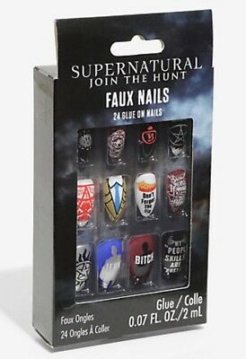 Supernatural Join The Hunt Faux Nails Set 24 Glue On Nails