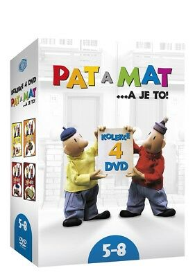DVD Collection Pat a Mat 5 - 8 Czech TV Pupped Animated series (wordless) Comedy