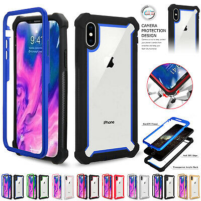 Shockproof Case For iPhone X XR XS MAX 6 7 8 Plus Clear Cover Heavy Duty Hybrid