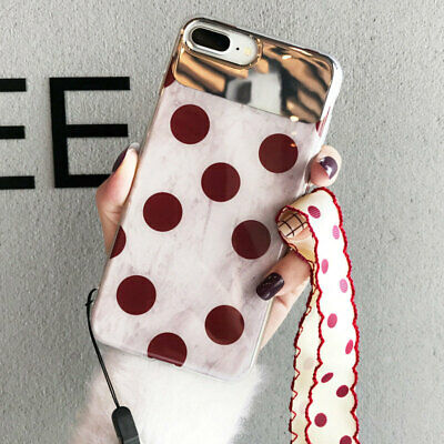 Retro Mirror Phone Case For iPhone XR/XS Max/X/6s 7 8 Plus Soft Cover With Strap