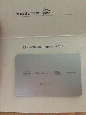 £80 Gift Card- Cotswold Outdoor-Snow+Rock-Cycle Surgery-Runners Need