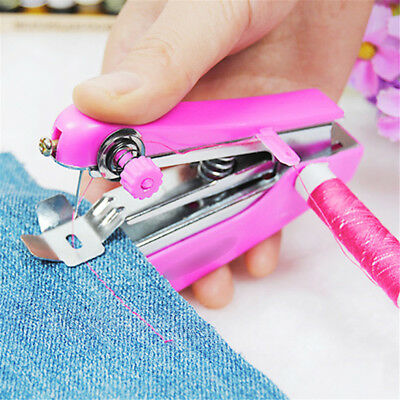 Lovely Cordless Hand held Clothes Sewing Machine Home Travel Use toolsZK