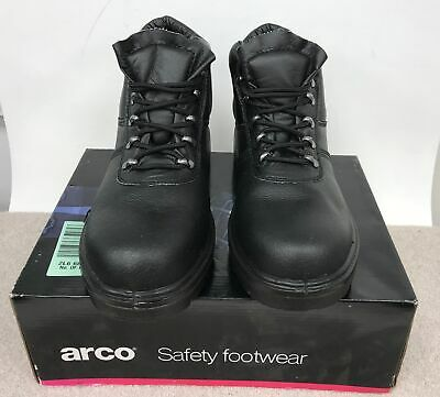 c5d84485e MEN'S BLACK STEEL Toe Cap Arco Safety Footwear Boots UK Size 8 Boxed #622