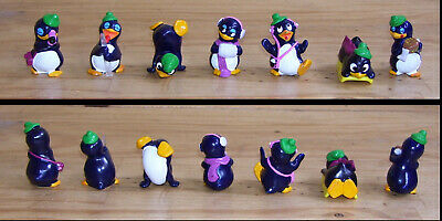 Lot de 7 figurines Kinder  Pingouins