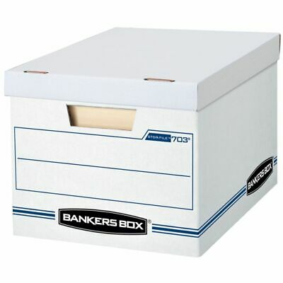 """Bankers Box Stor/File 15"""" x 12"""" x 10"""" Basic Strength Storage Boxes, 10-Pk"""