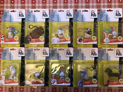 The Secret Life Of Pets Keychain - Choose Your Favourite Pet - 10 To Collect