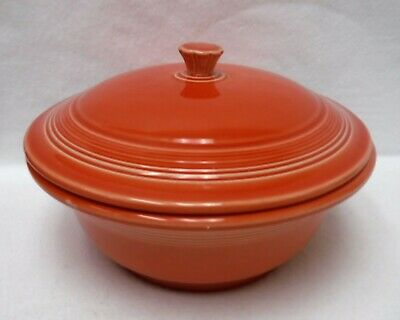 HOMER LAUGHLIN china FIESTA Contemporary PERSIMMON Covered Casserole & Lid