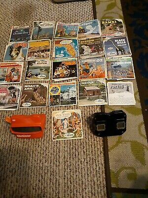 3D ViewMaster 3-D View Master Vintage lot of 21.snow white,wizard oz,bambi,