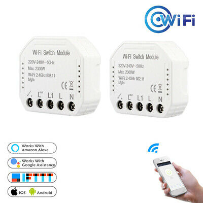 Smart Wifi Light Switch Touch Remote Controller For Alexa Google Home Life xbj