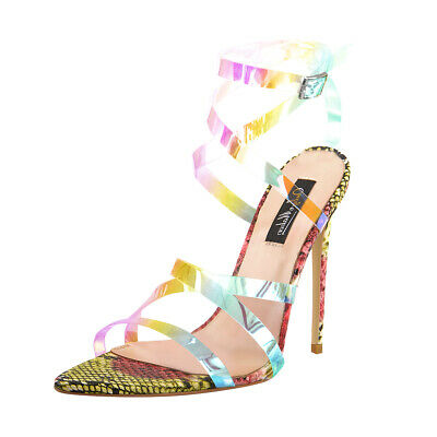 862b630e8aa NEW PINK IRIDESCENT Ankle-Strap Size 13 Wide Women's Shoes 4