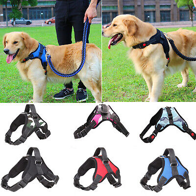 No Pull Dog Pet Vest Harness Strap Adjustable Nylon Small Medium Large XL Dog US