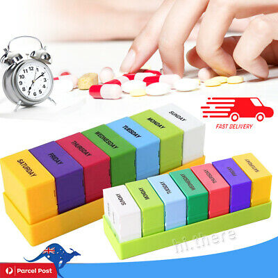 7Day Protable Pill Box Medicine Tablet Dispenser Organiser Weekly Container Case
