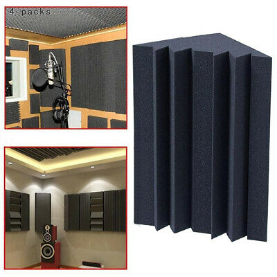 4 PACKS Soundproofing Foam Acoustic Bass Trap Corner Absorbers for Meeting Room