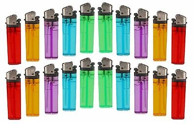20 Lighters Disposable Mix Color Butane Lighter Outdoor Kitchen Cigarette Candle