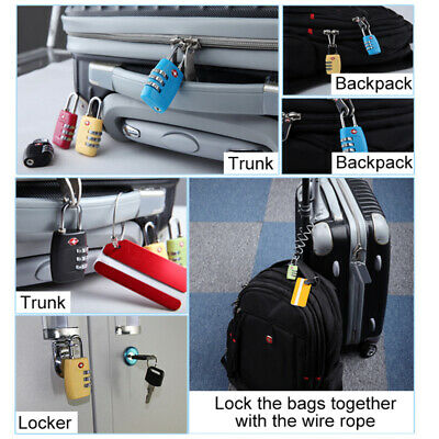TSA Approved Luggage Lock Suitcase 3-Dial Combination Travel Security Padlock
