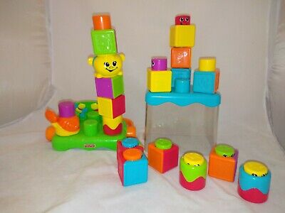 Fisher Price Stack N Suprise Blockity Pop Up Blocks in Carry Case