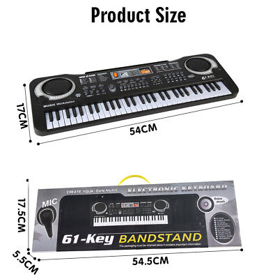 61Key Digital Piano Music Electronic Keyboard Toy Electric Set MIC Girls Gift UK